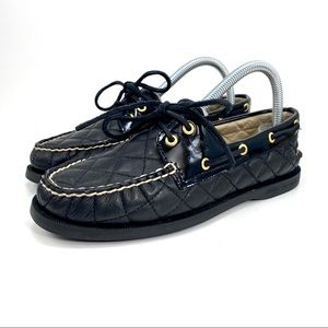 Sperry Top Sider Quilted Leather Boat Shoe Loafer